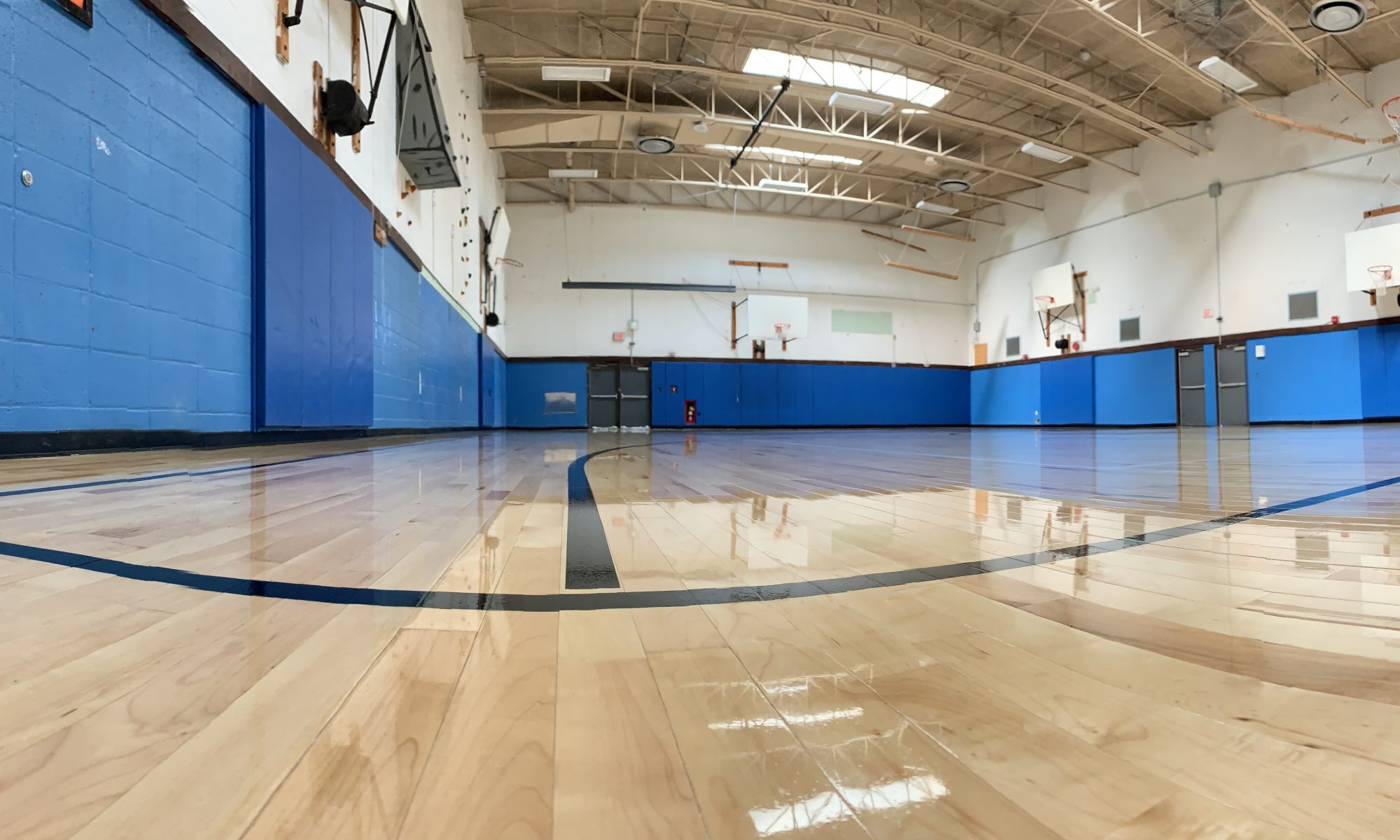photo is of the new gym floor