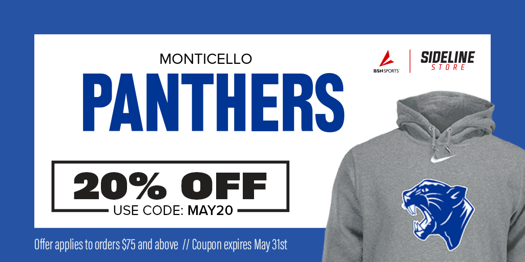 Image of sweatshirt with Panther on it and the text 20% off