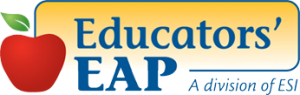 the logo has an image of an apple and the words Educators' EAP written in blue