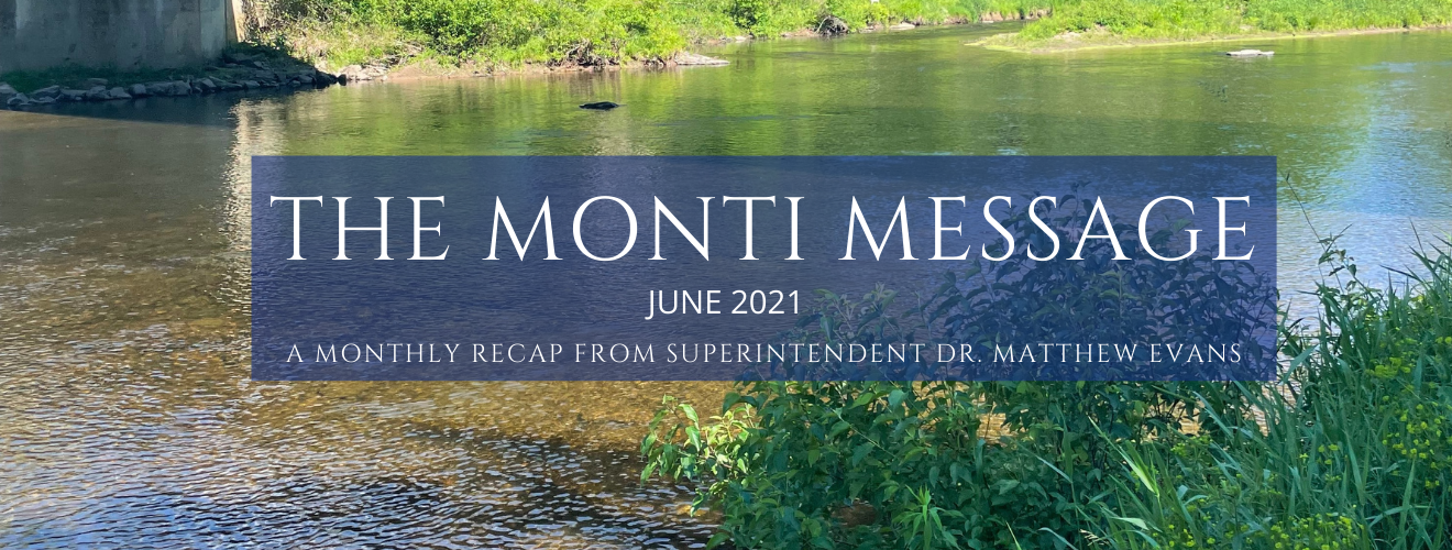 """photo of river. text reads """"The Monti Message"""""""
